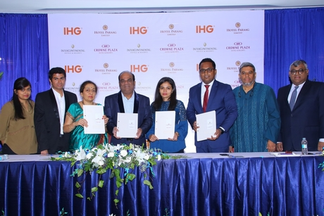 IHG signs an agreement with Hotel Paraag Limited for its two Bangalore hotels