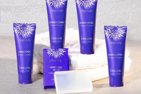 Inara's new range of bath and hair care amenities