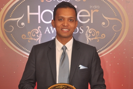Vinod Kumar from Bengaluru Marriott Hotel Whitefield registers ADR growth at the Hotelier India Awards