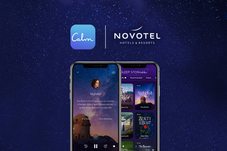 Novotel partnered with Calm App to induce relaxation and well-being