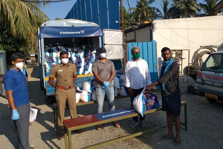 Grundfos India helps migrant workers and underprivileged amid coronavirus crisis