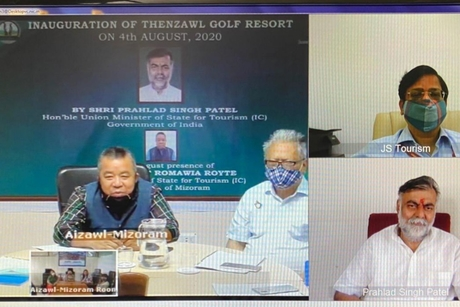 Prahlad Singh Patel virtually inaugurates Thenzawl Golf Resort project implemented in Mizoram