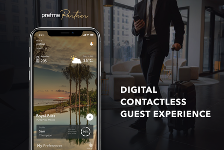 Prefme Partner is the world's first all-in-one contactless hospitality solution
