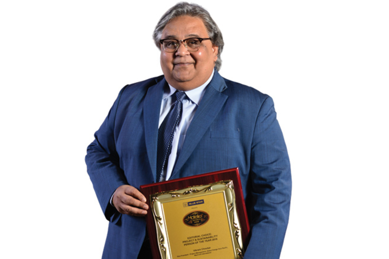 Vikram Choubal- Hotelier India Awards 2018, Editorial Choice: Project & Sustainability Person