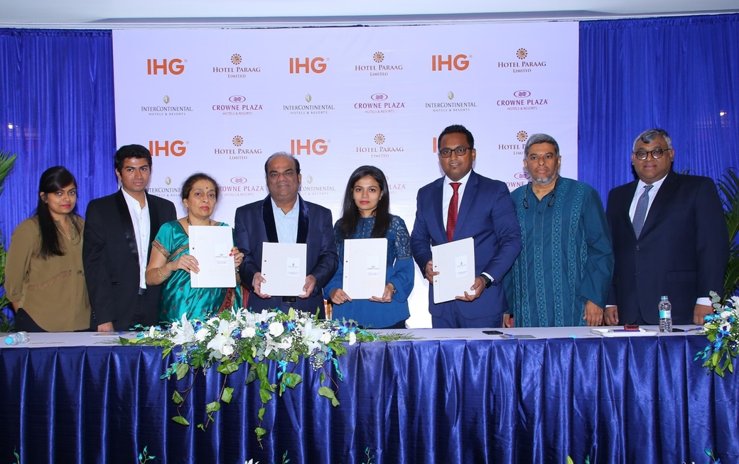 InterContinental Hotels Group (IHG), Hotel Paraag Limited, Bangalore, InterContinental Bengaluru Whitefield, Crowne Plaza Bengaluru Raj Bhavan Road
