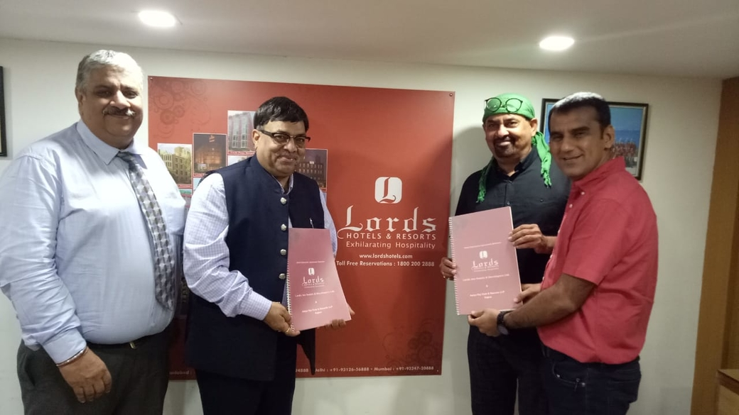 Lords Hotels and Resorts, Aarya Raj Club and Resort, Lords Aarya Club & Resort, Rajkot, Hotel launch, Partnership