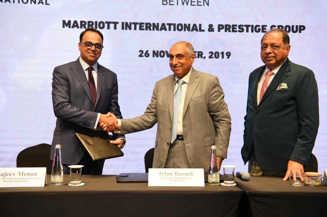 Prestige Group, Marriott International Inc, Big Hospitality, Jw marriott, Tribute Portfolio Hotel, W hotels, Moxy, W Bengaluru