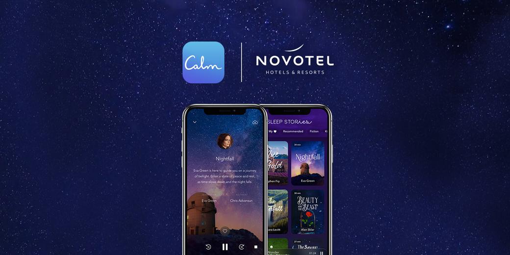 Novotel Hotels & Resorts, Accor, AccorHotels, Calm App, Relaxation, Sleep, Well-being, Partnership