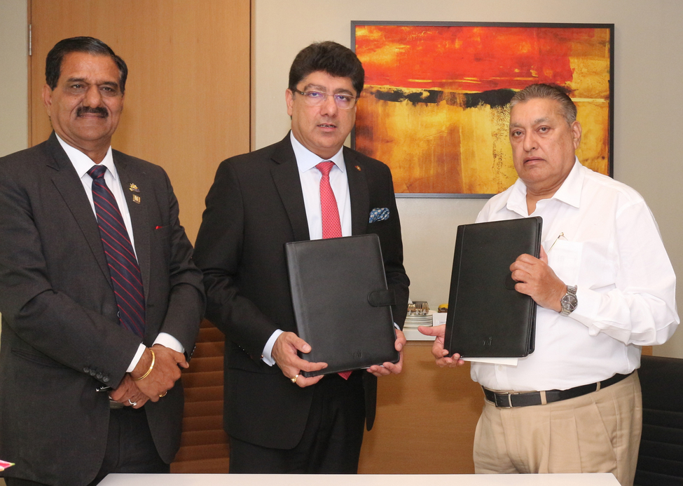 (From R to L): Mr. Dhall, Owner, Dhauladhar Resorts Private Ltd.; Mr. Puneet Chhatwal, Managing Director & Chief Executive Officer, IHCL; and Mr. Mahindru, Owner, Dhauladhar Resorts Private Ltd.