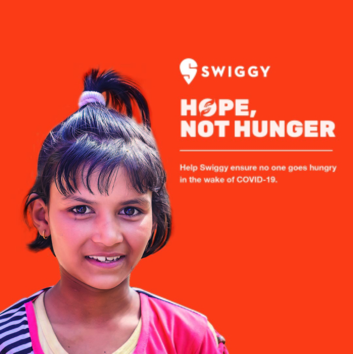 'Hope, Not Hunger' initiative, Swiggy to feed the underprivileged, Hope, Not Hunger' initiative by Swiggy, Distribution of nutritious meals, Compass Kitchens, Lite Bite Foods, SmartQ, Pratham, HelpAge India, Yuva, Elior India, Sriharsha Majety, Swiggy's relief effort