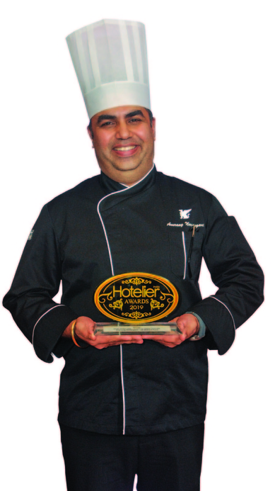 11th edition Hotelier India Awards, 11th Hotelier India Awards, Hotelier India, Hotelier India Awards, Hotelier India Awards 2019, Chef of the Year, Chef of 2019, Chef Anuraag Narsingani, Anuraag Narsingani, JW Marriott Pune