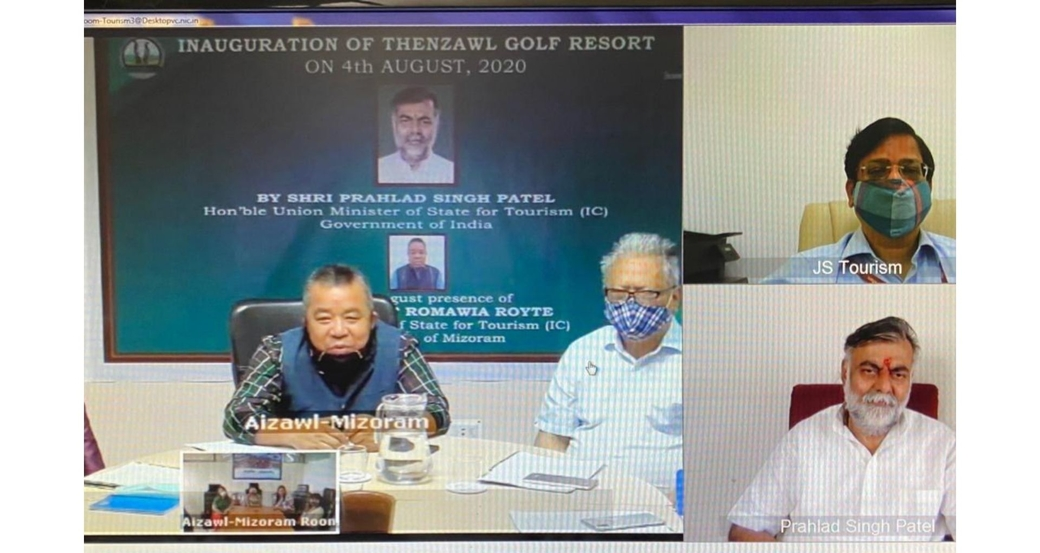 Union Tourism Minister Prahlad Singh Patel, Inauguration of Thenzawl Golf Resort project, Mizoram, Swadesh Darshan Scheme, Ministry of tourism, Government of India, Tourism news
