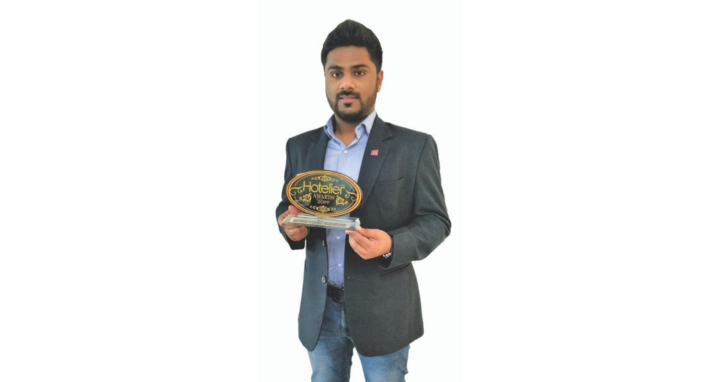 11th edition Hotelier India Awards, Hotelier India, 11th Hotelier India Awards, Hotelier India Awards 2019, Hotelier India Awards, Rahul George, Aloft Bengaluru Cessna Business Park, Marketing person of 2019, Marketing Person of the Year