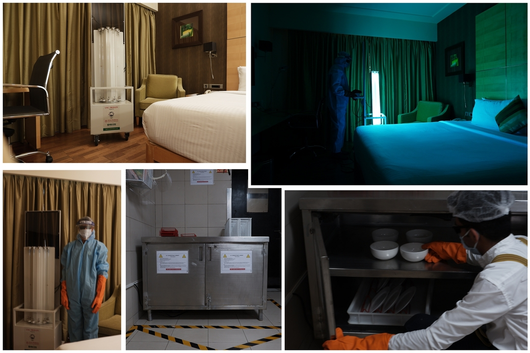 Novotel Hyderabad Airport, UV cleaning device, Guest room sanitisation equipment
